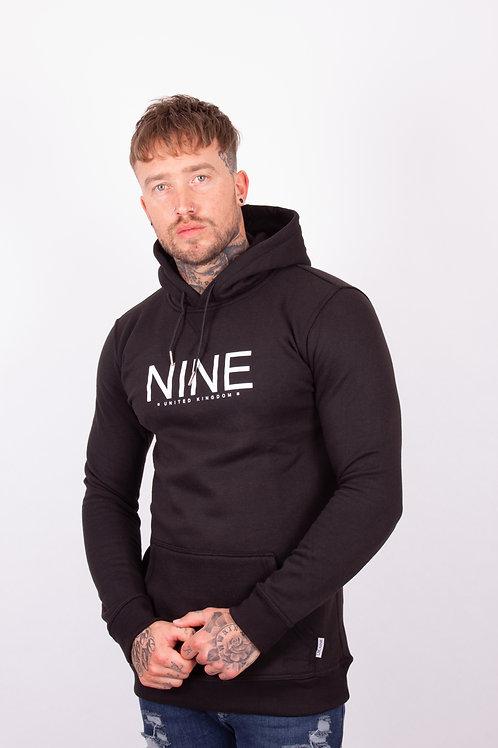 NINE Pullover Hoodie - Black