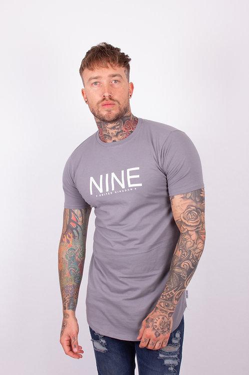 NINE Longline Tee - Grey