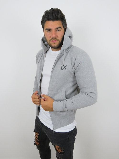 IX logo zip up Hoodie - Grey
