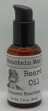 Mountain Man Beard Oil - Tobacco Bourbon