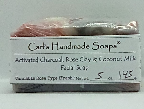 Activated Charcoal, Rose Clay, Coconut Milk Facial Soap