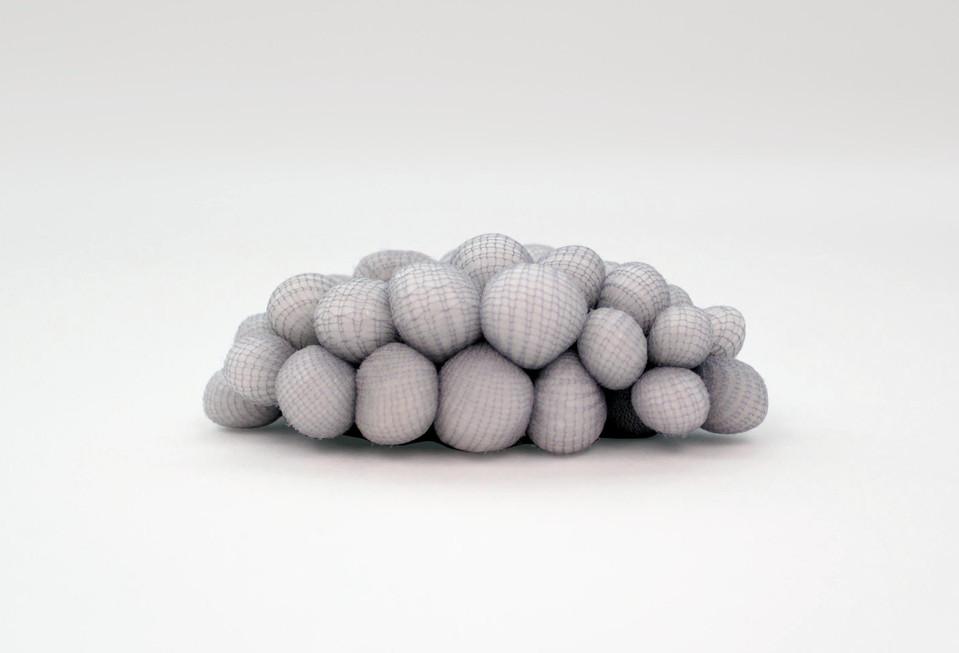 Untitled from the Polymorph Series, nylon & fiberfill,  1  x  3  x  1 inches, 2013