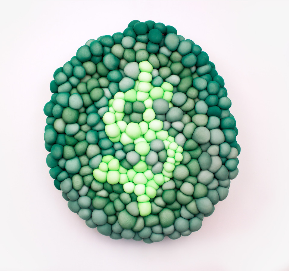 Untitled, nylon & fiberfill, 20 inch diameter  x  4 inches deep, 2013