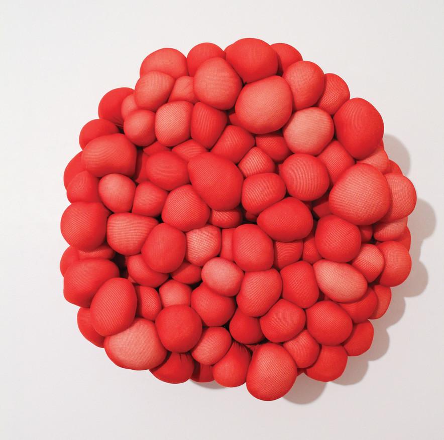 Conception, nylon & fiberfill, 12 inch diameter  x  3 inches deep, 2012