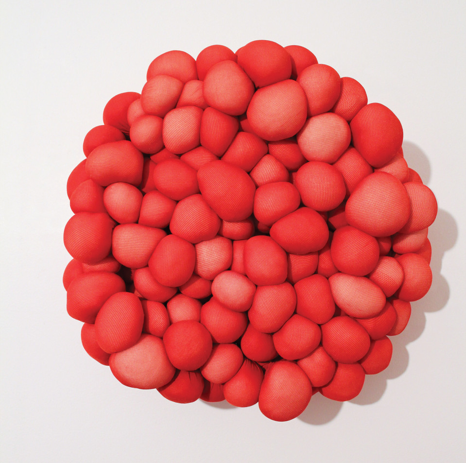 Conception, nylon & fiberfill, 12 inch diameter  x  3 inches deep, 2012