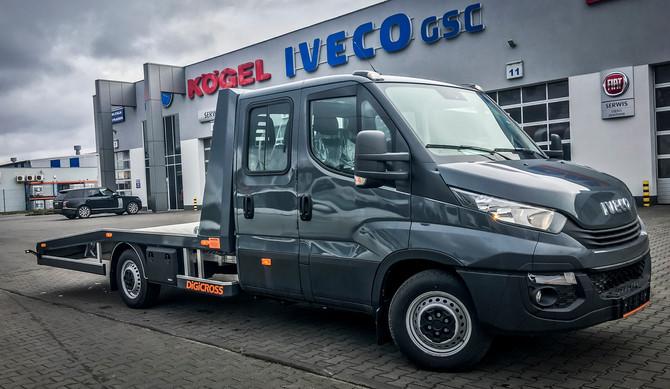 #IvecoNaWydaniu - Iveco Daily - autolaweta z podwójną kabiną w GSC Piła