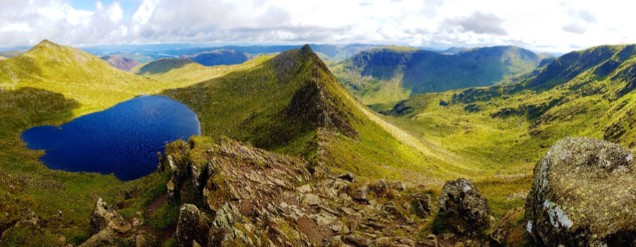The Famous Striding Edge on Helvellyn