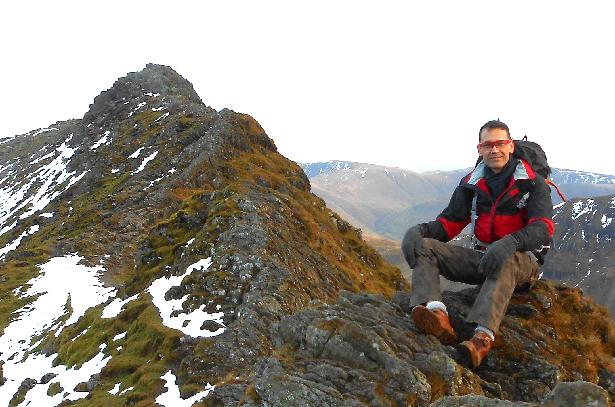Enjoying the view on Striding Edge
