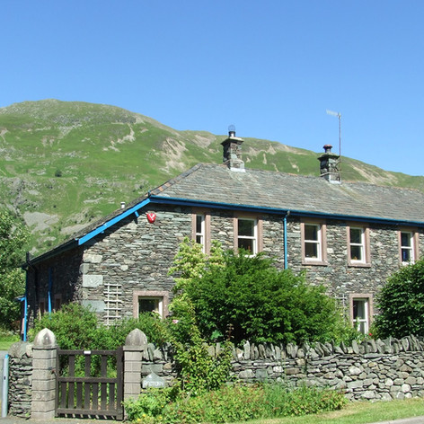 The Rectory, Patterdale.  Front view looking towards Place Fell.