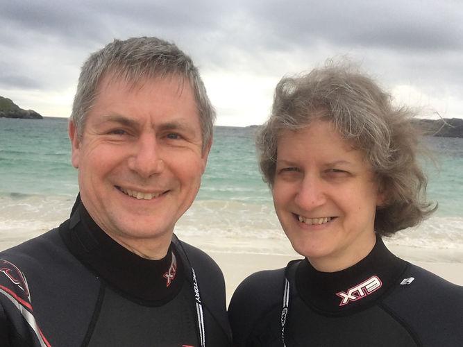 Morris and Judith in Wet Suits.jpg