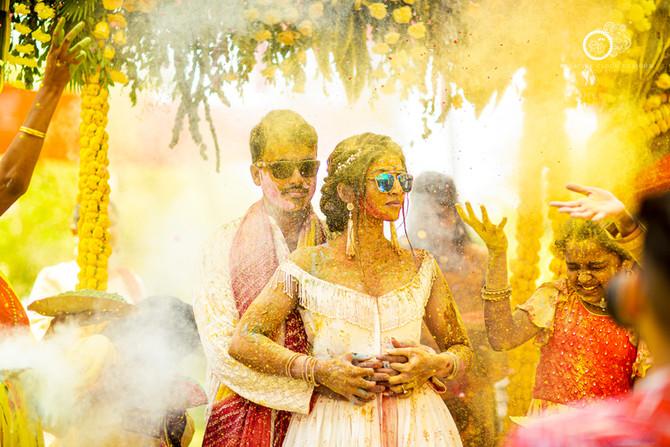 Hinduja Prudhvi's Haldi Ceremony | A Real Hindu Destination Wedding Story