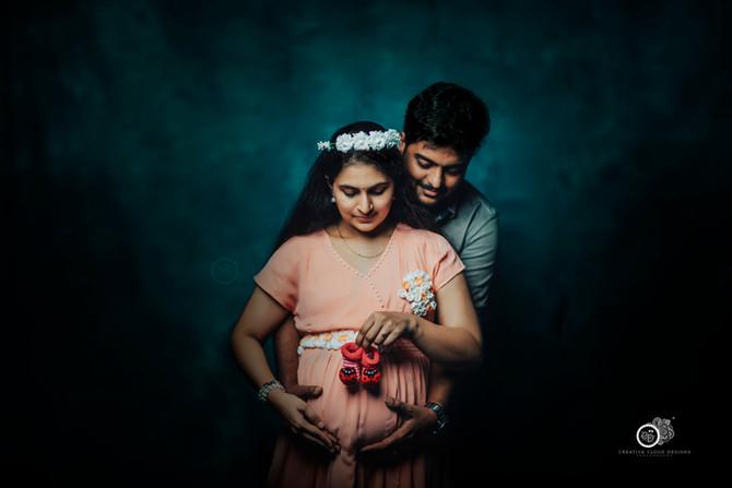 Sindhu Vijay MATERNITY Photoshoot Session | Maternity Portrait Poses