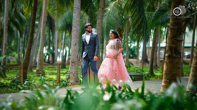 Best Outdoor Couple Shoot Story of Manvitha & Krishna in Eluru by Creative Cloud Designs Photography