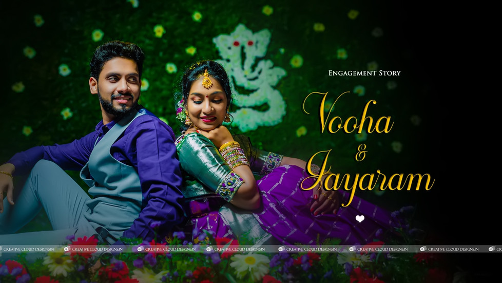 Vooha & Jayaram | Ring Ceremony 💍Engagement Poses for Couples