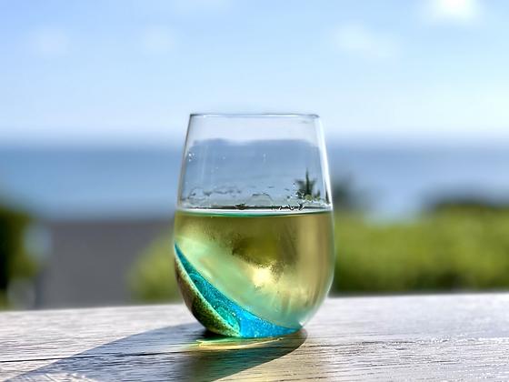 Ocean Inspired Wine Glass