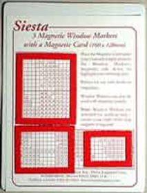 Magnetic Chart Window Markers - Red