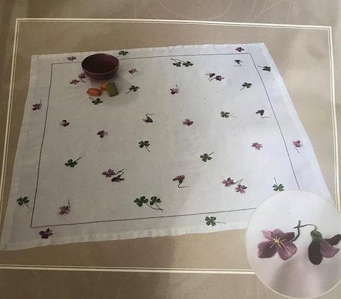 DMC Violet and Clover Tablecloth