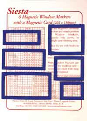 Magnetic Chart Window Markers - Blue