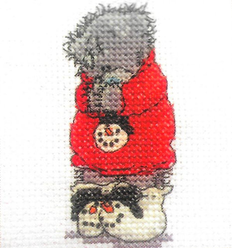 DMC Me To You Tatty Teddy Christmas Mini Cross Stitch Cosy and Warm