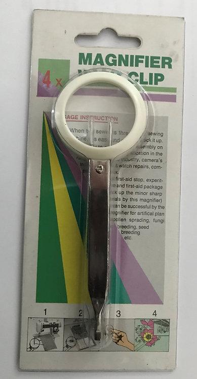 Magnifier with Tweezers