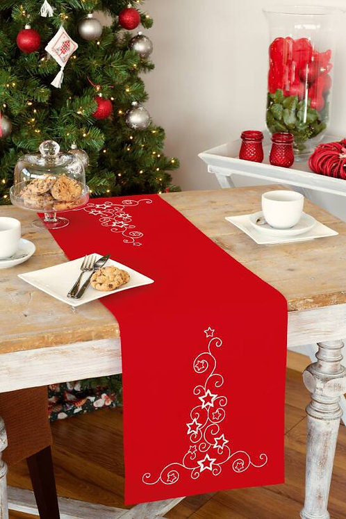 Vervaco Christmas Stars and Swirls Table Runner Embroidery Kit