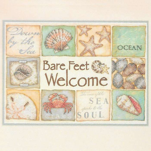 Dimensions Bare Feet Welcome Cross Stitch Kit