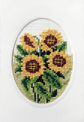 Orchidea Sunflowers Cross Stitch Card Kit