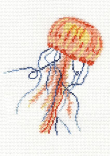 DMC Gentle Jellyfish Nature  Cross Stitch Kit