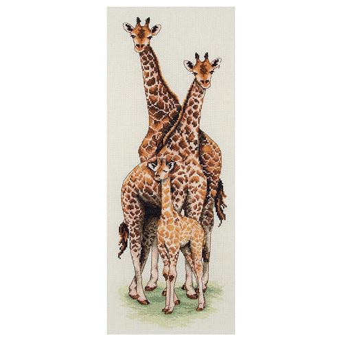Anchor Giraffe Family Nature  Cross Stitch Kit