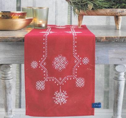 Vervaco Christmas Stars Table Runner Cross Stitch Kit