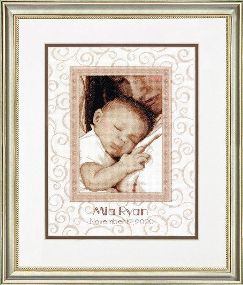 Dimensions Peaceful Baby Birth Sampler Cross Stitch Kit