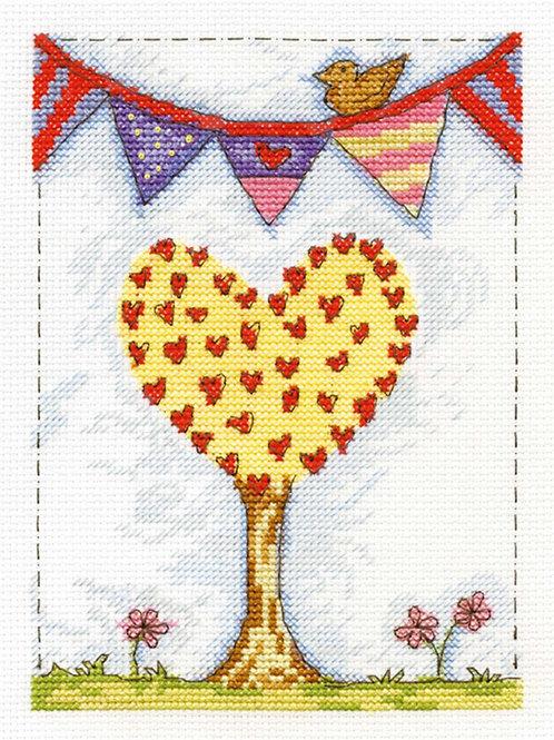 DMC Family Tree Cross Stitch Kit