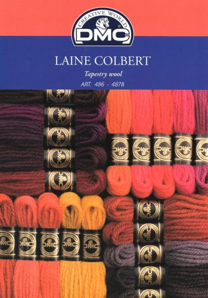 DMC Tapestry Wool Colour Shade Card