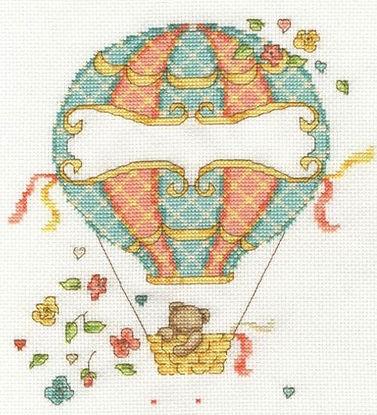 DMC Hot Air Balloon Baby Birth Sampler Cross Stitch Kit