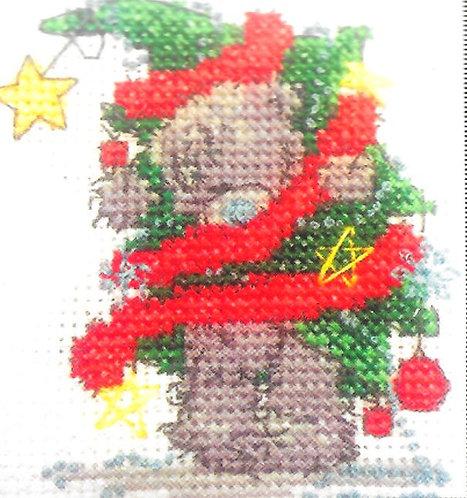 DMC Me To You Tatty Teddy Christmas Mini Cross Stitch Christmas Tree Fun