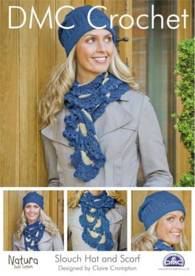 Slouch Hat and Scarf Crochet Pattern