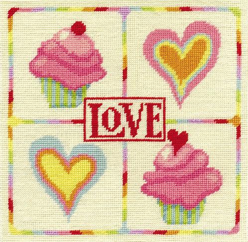 DMC Love Tapestry Cushion Cover