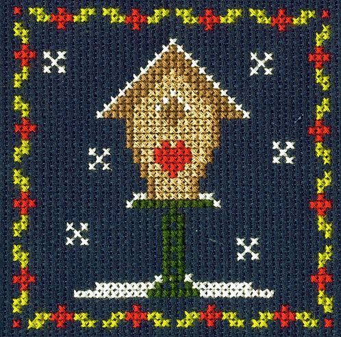 DMC Christmas Mini Cross Stitch Birdhouse