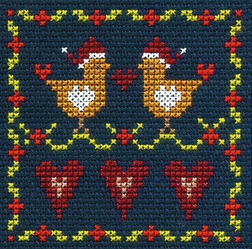 DMC Christmas Mini Cross Stitch Love Birds