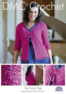 Tie Front Top Crochet Pattern