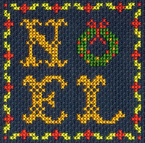 DMC Christmas Mini Cross Stitch Noel Wreath