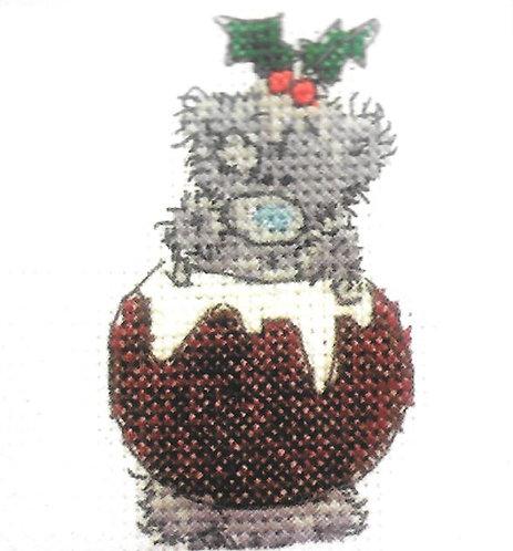 DMC Me To You Tatty Teddy Christmas Mini Cross Stitch I Love Xmas Pud