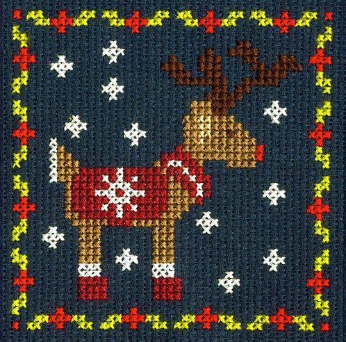 DMC Christmas Mini Cross Stitch Kit Reindeer
