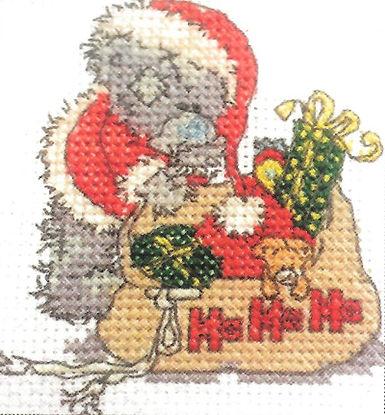 DMC Me To You Tatty Teddy Christmas Mini Cross Stitch Santa Bear