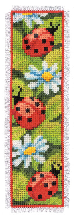 Vervaco Ladybird Bookmark Floral Nature Cross Stitch Kit