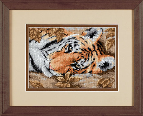Dimensions Beguiling Tiger Nature  Cross Stitch Kit