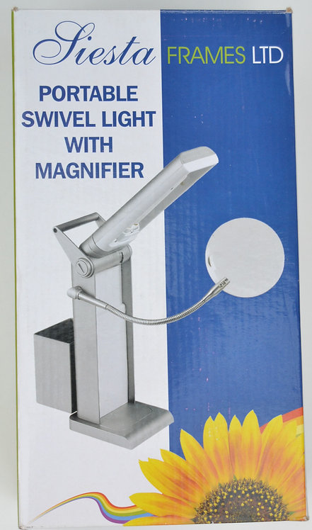 Portable Swivel Light with Magnifier