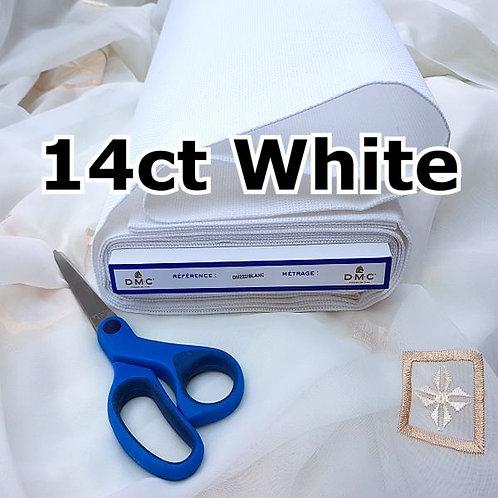 DMC DM222 14 Count White Aida Fabric 'Off-the-Bolt'