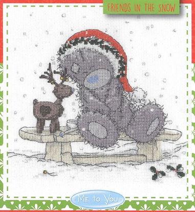 Christmas Friends in the Snow Me to You Tatty Teddy DMC Cross Stitch Kit
