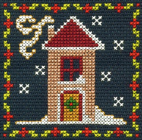 DMC Christmas Mini Cross Stitch Snowy House
